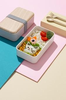Composição da caixa de bento japonesa saudável