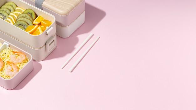 Composição da caixa de bento japonesa