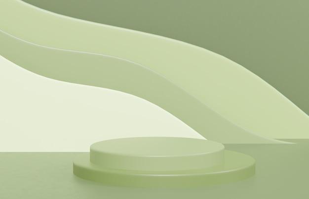 Composição da cena criativa para apresentação do produto