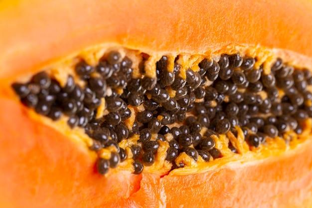 Composição da deliciosa papaia exótica