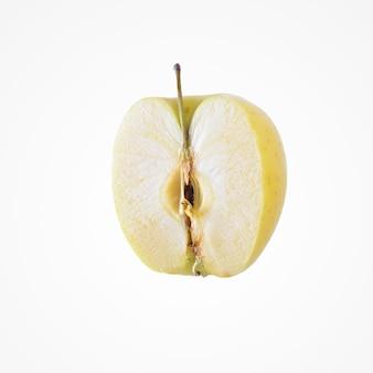 Composição da fruta. delicioso colorido meio maçã isolat no fundo branco do estúdio.