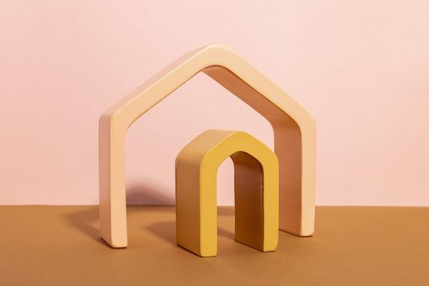 Composição da moda de fundo abstrato com formas geométricas forma arco do pódio de exposição para o produto. Foto Premium