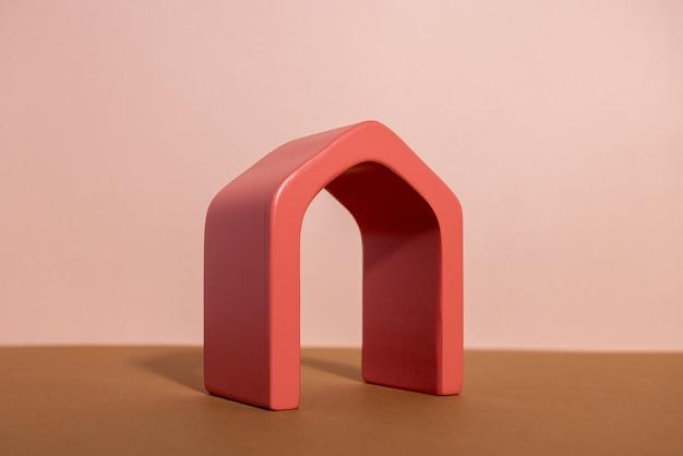 Composição da moda de fundo abstrato com formas geométricas forma arco do pódio de exposição para o produto.