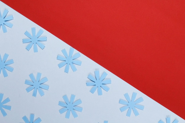 Composição da moldura de maquete com flores de papel artesanais