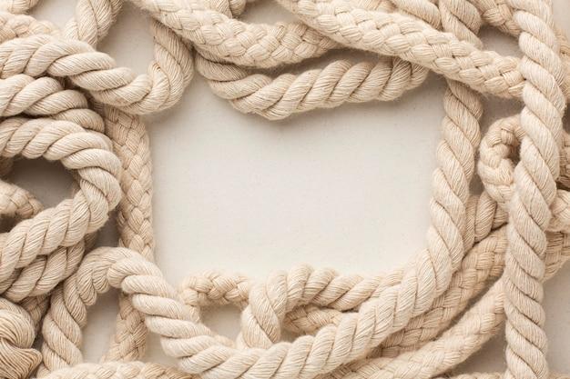 Composição da textura da corda da vista superior