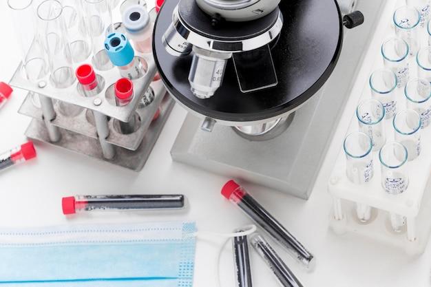 Composição das amostras de sangue para o teste covid-19