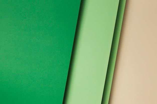 Composição das folhas de papel verde