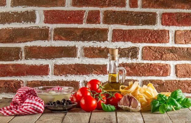 Composição de alimento italiana