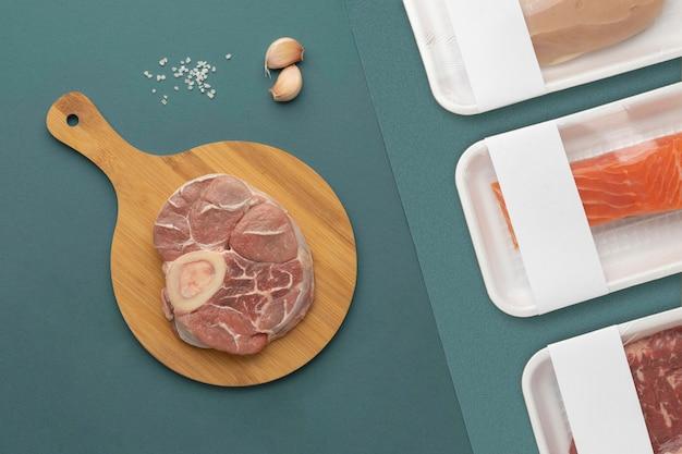 Composição de alimentos congelados saudáveis