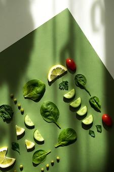Composição de alimentos frescos