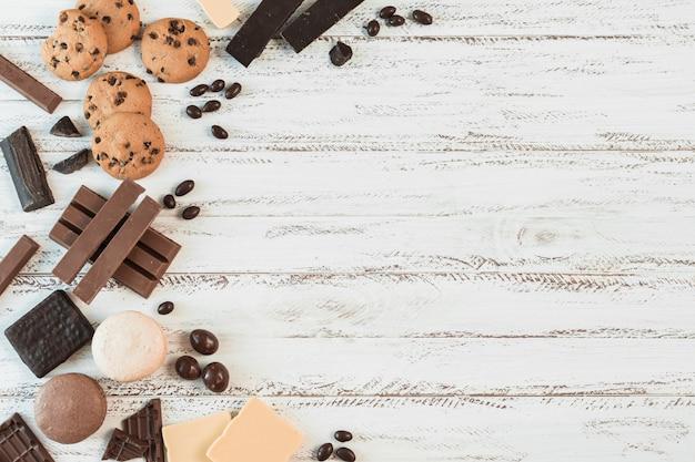 Composição de biscoito com copyspace