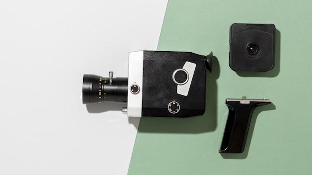 Composição de câmera de filme vintage