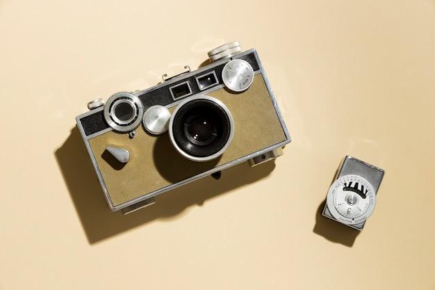 Composição de câmera fotográfica vintage