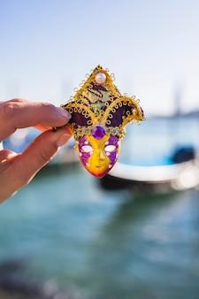 Composição de carnaval veneziano elegante