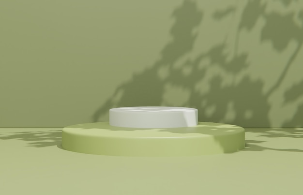 Composição de cena minimalista para apresentação do produto