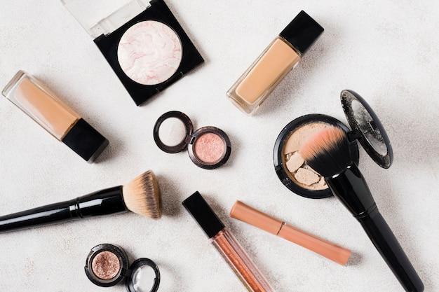 Composição de cosméticos maquiagem para mulheres