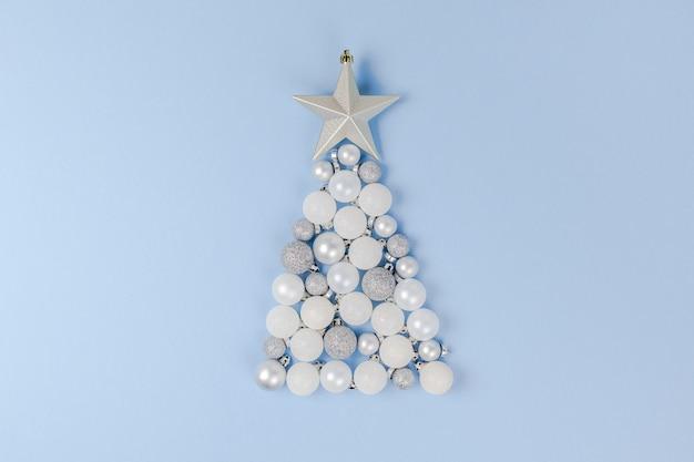 Composição de decoração de ano novo ou natal