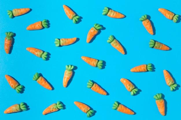 Composição de deliciosos doces de cenoura