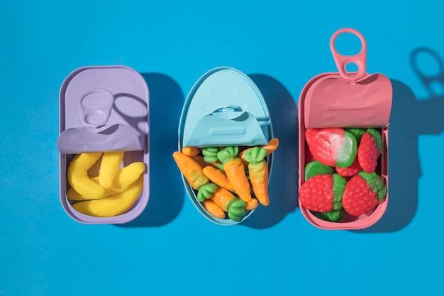 Composição de deliciosos doces doces