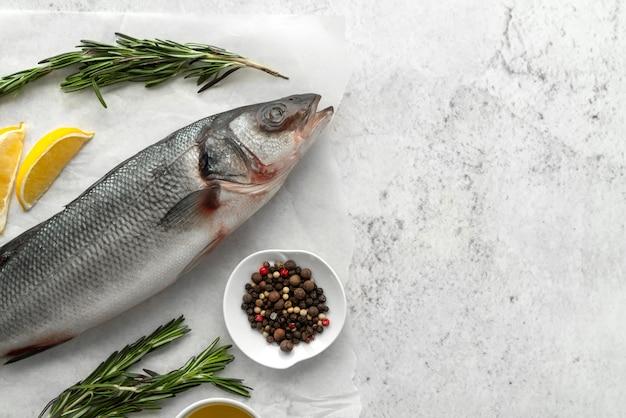 Composição de deliciosos frutos do mar