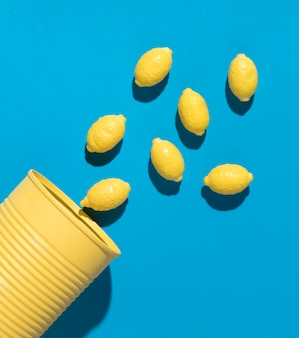 Composição de deliciosos rebuçados de limão doce