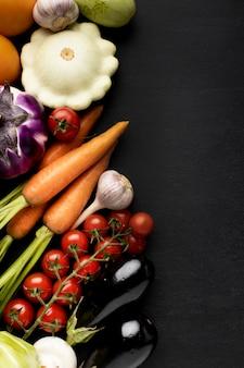 Composição de deliciosos vegetais frescos