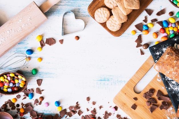 Composição de doces e pastelaria da páscoa