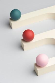 Composição de elementos abstratos de design 3d