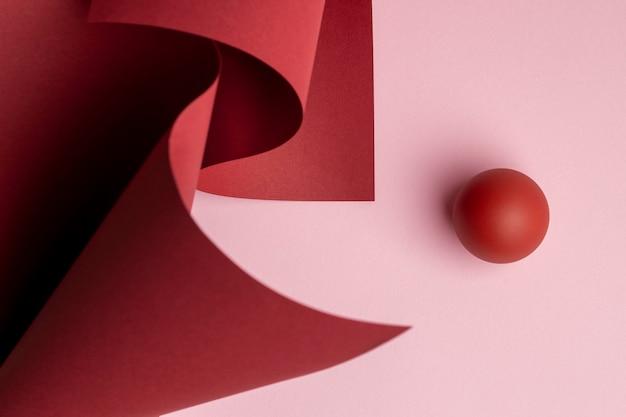 Composição de elementos de design abstrato renderizados 3d
