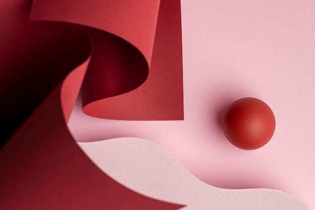 Composição de elementos de design renderizados 3d