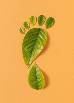 Composição de elementos de estilo de vida sustentável de naturezas mortas
