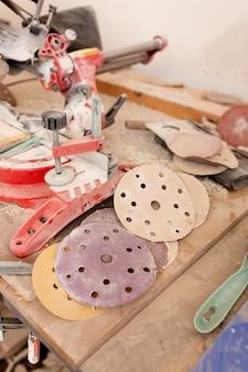 Composição de elementos de trabalho do artesão