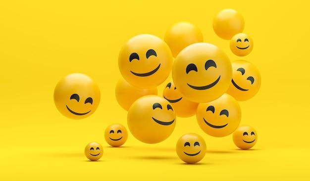 Composição de emojis do dia mundial do sorriso