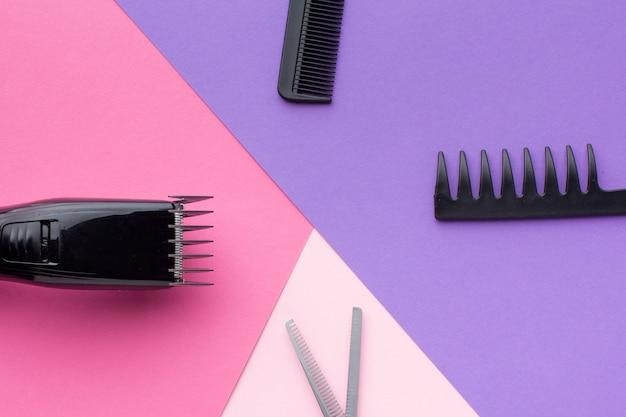 Composição de equipamentos de cabelo plana leigos
