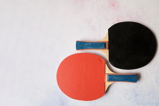 Composição de esporte adorável com elementos de pingue-pongue