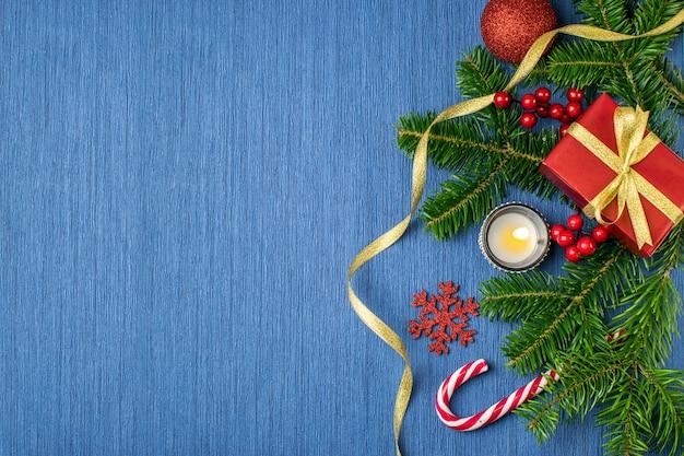 Composição de férias de natal azul