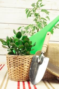 Composição de ferramentas de jardim