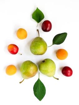 Composição de frutas maduras