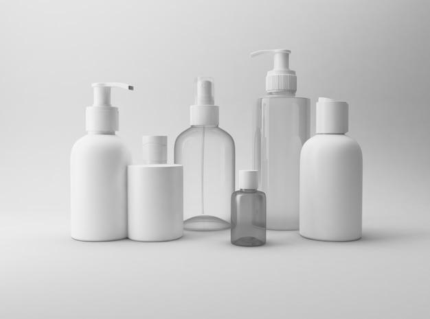 Composição de garrafas cosméticas