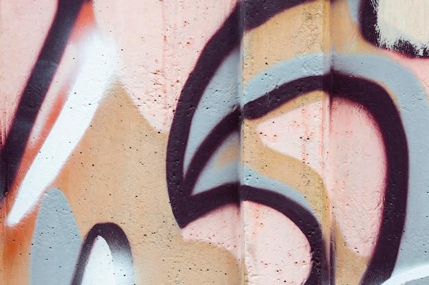 Composição de graffiti mural abstrata