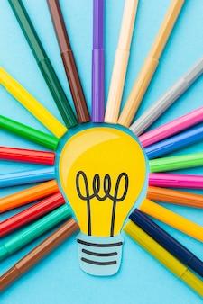 Composição de inovação abstrata colorida