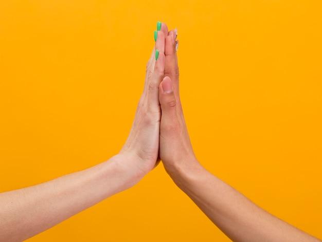 Composição de mãos para o dia da amizade