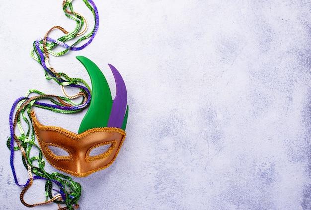 Composição de mardi gras com máscara de carnaval