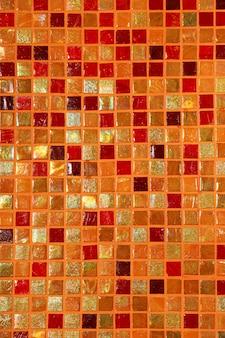 Composição de mosaico de azulejos de vidro cerâmico