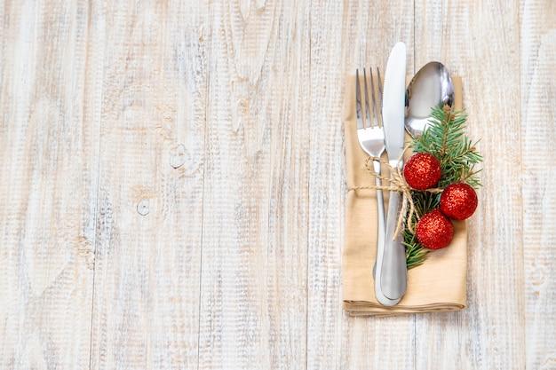 Composição de natal com mesa