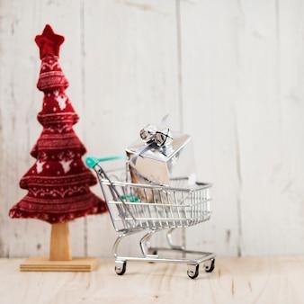 Composição de natal para presentes de compras
