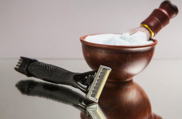 Composição de objetos de barbear
