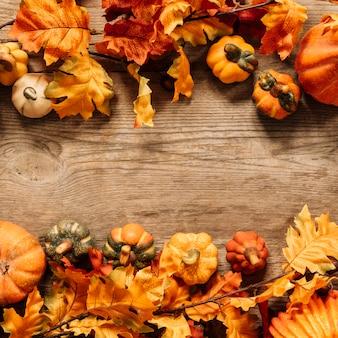 Composição de outono colorida
