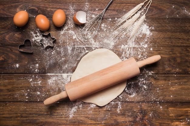 Composição de padaria com massa