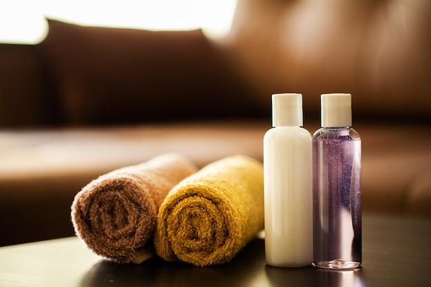 Composição de produtos cosméticos de tratamento de spa.